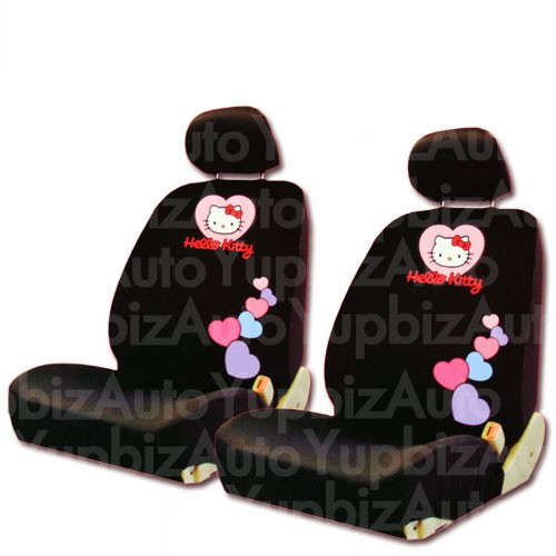 NEW Hello Kitty Low Back Car Seat Covers And Steering