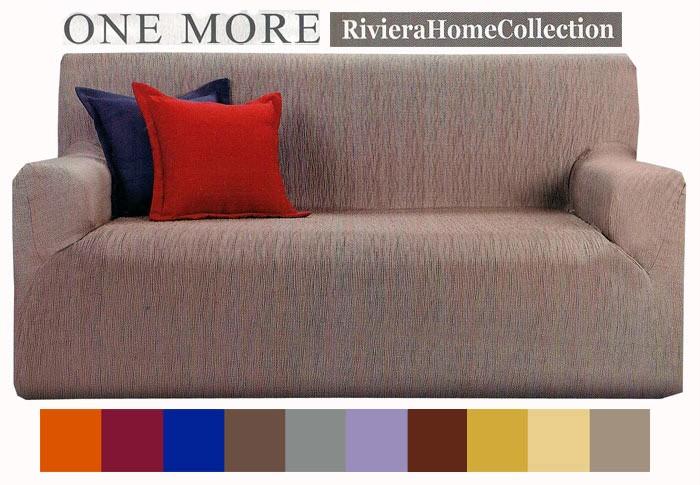 Copridivano 3 tre posti tinta unita one more riviera home collection 10 colori ebay - Copridivano 3 posti senza braccioli ...