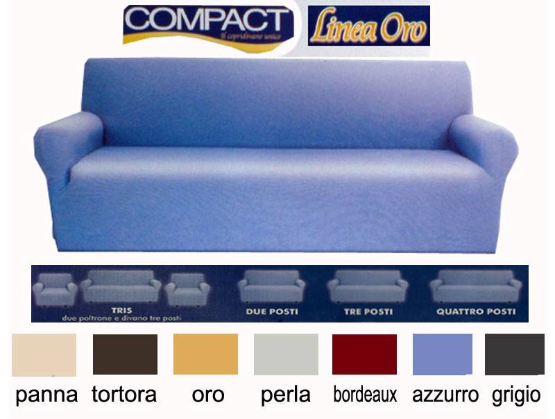 Copridivano 4 posti tinta unita compact vari colori ebay - Copridivano due posti ikea ...