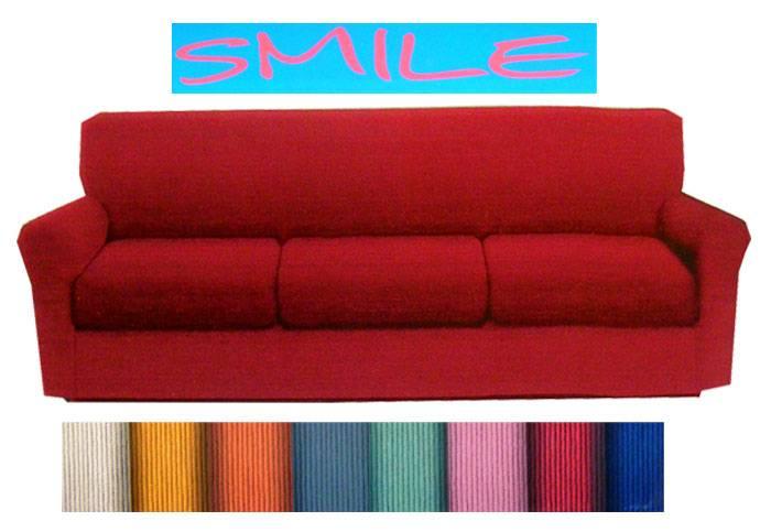 Copridivano 3 tre posti tinta unita smile fino 205 cm 8 - Copridivano tre posti elasticizzato ...