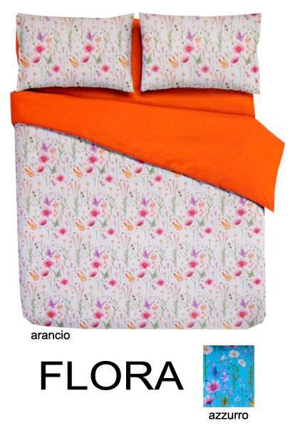 Completo lenzuola cotone letto francese flora 2 colori - Lenzuola per letto alla francese ...