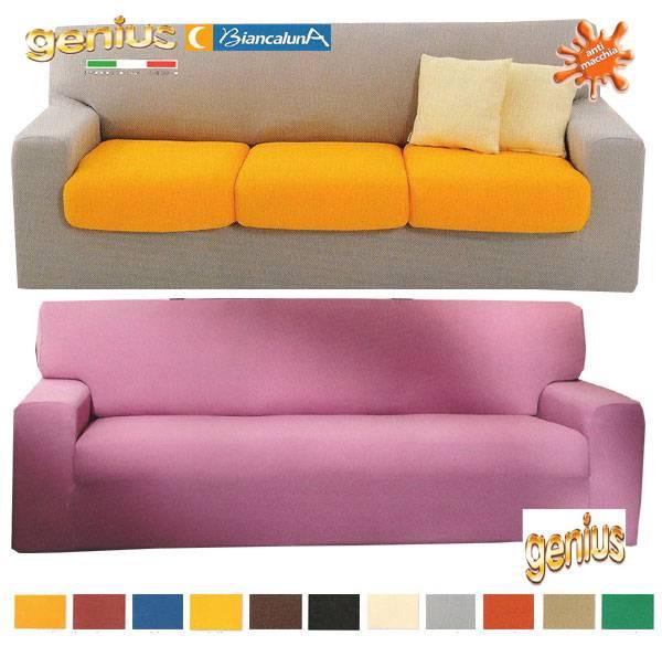 Copridivano 3 tre posti t unita genius 4d biancaluna fino - Copridivano per divani reclinabili ...