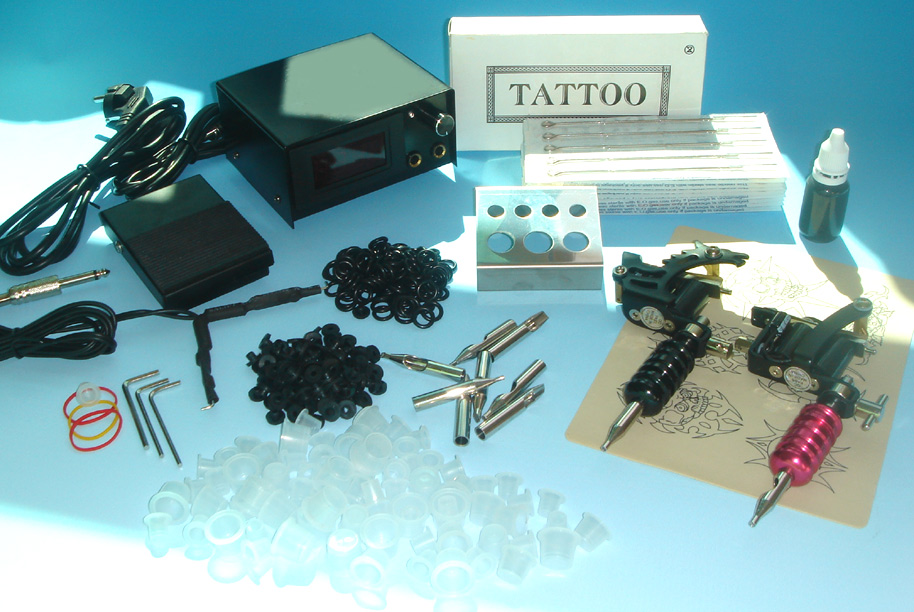 New Professional Tattoo Gun Machine Brass On Sale Tattoo 2 Gun Kit