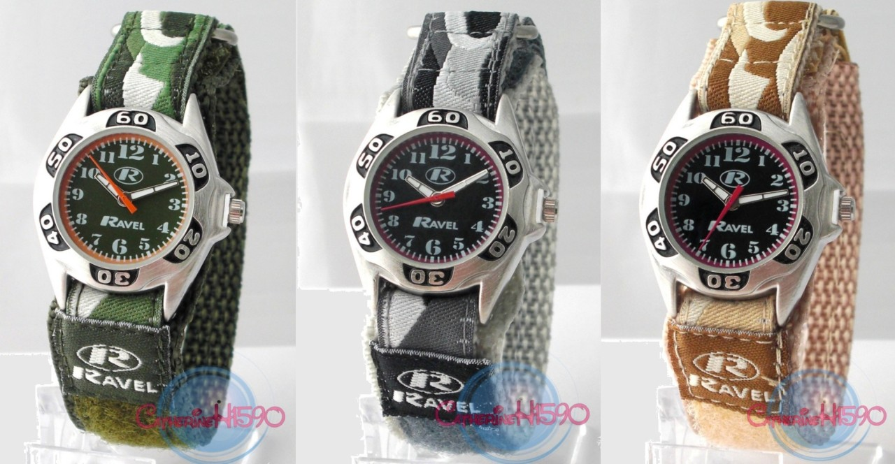 Childrens-Kids-boys-Velcro-Strap-Army-Camouflage-Watch