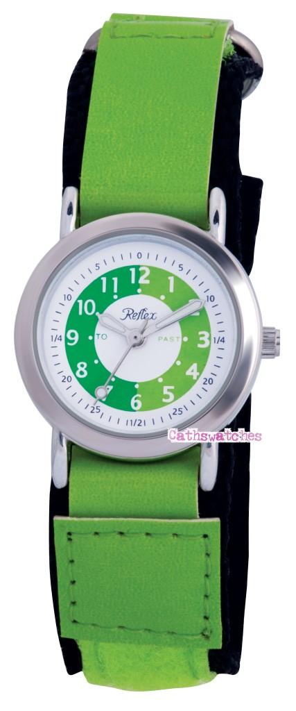 Childrens-Kids-Velcro-Buckle-Time-Teacher-Tutor-Watch
