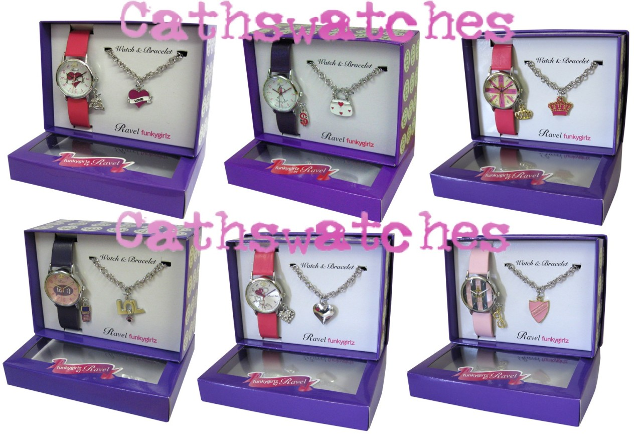 Teen/Girls/Children's Ravel Funky Girlz Boxed Watch and Bracelet Gift Set