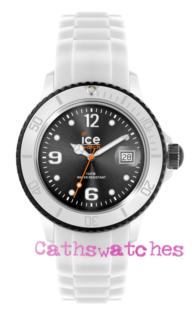 Ice-Watch-New-Model-Ice-White-White-Black-Silicon-Strap-Small-Unisex-or-Big