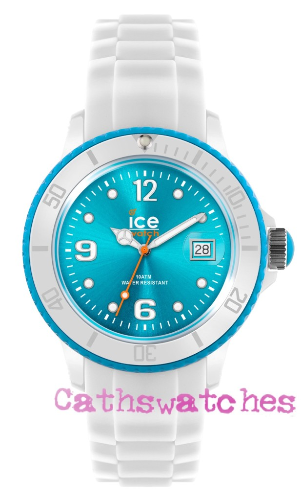 Ice-Watch-New-Model-Ice-White-White-Turquoise-Silicon-Strap-Small-Unisex-or-Big