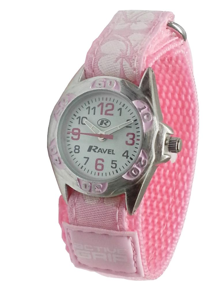 Childrens-Girls-Hawaii-Flowers-Style-Velcro-Watch