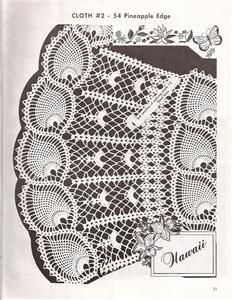 free pineapple table runner crochet pattern PDF | Crochet! Crochet!