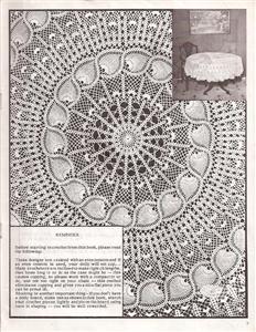CENTER CROCHET PATTERN PINEAPPLE TABLE | Original Patterns