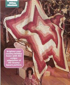 12 Point Star Afghan Pattern http://www.ebay.com/itm/STAR-AFGHAN-THROW-TEXAS-5-POINT-Crochet-Pattern-OLDER-/260413090536