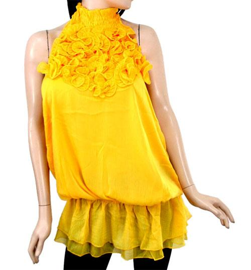 Yellow Evening Blouse 27