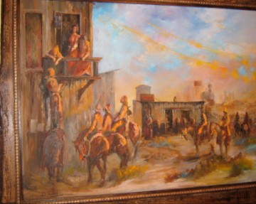 Don Hansell Western Oil Painting  Wichita