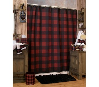 Pocket Rod Curtain Hardware Polka Dotted Shower Curtain