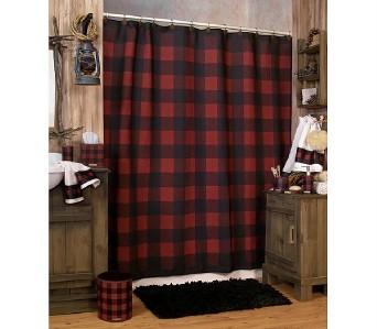 Pocket Rod Curtain Hardware Polka Dotted Shower Curtain