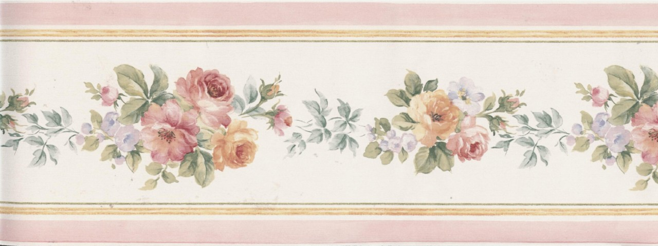 alfa img showing victorian rose wallpaper border