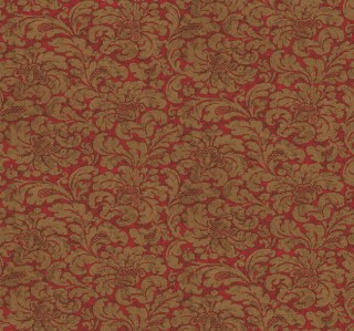 Details about Wallpaper Designer Gold Damask Print on Red Faux