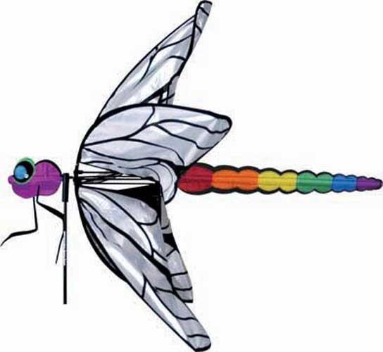 Premier designs dragonfly rainbow wind spinner whirligig for Wind garden by premier designs