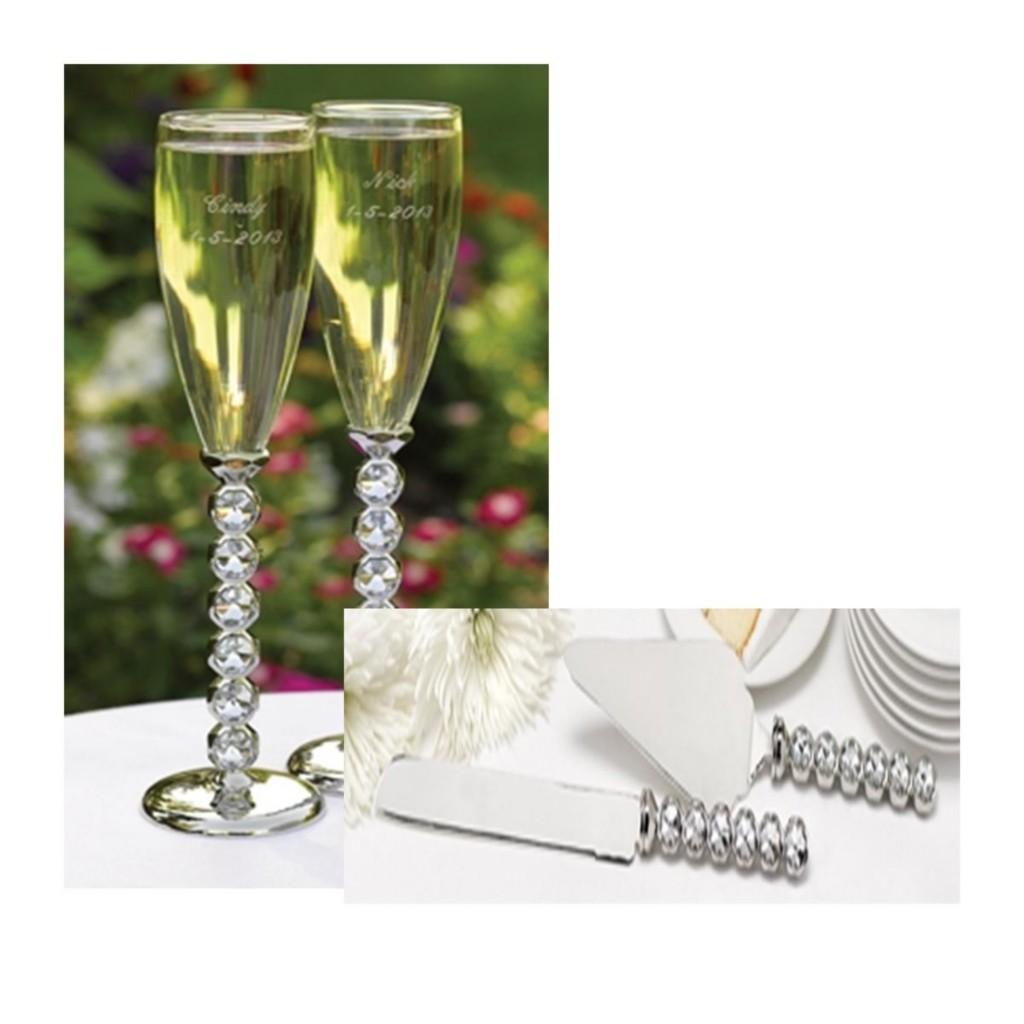 wedding flute diamond toasting flute cake serving set ebay