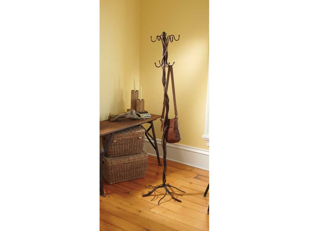 Details about Coat Rack Tree Twisted Twig Stick Branch Brown Metal