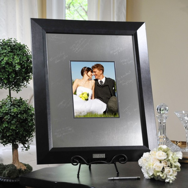 details about engraved guest book signature wedding picture frame
