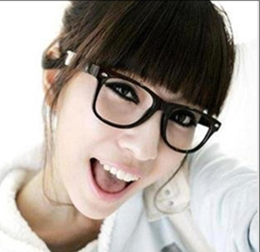Are Big Eyeglass Frames In Style : Geek Nerd Black Glasses Eyeglasses Fashion Wayfarer Big ...
