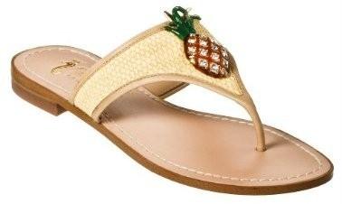 Miss-Trish-Target-Pineapple-Tan-Flip-Flop-Sandals-NEW