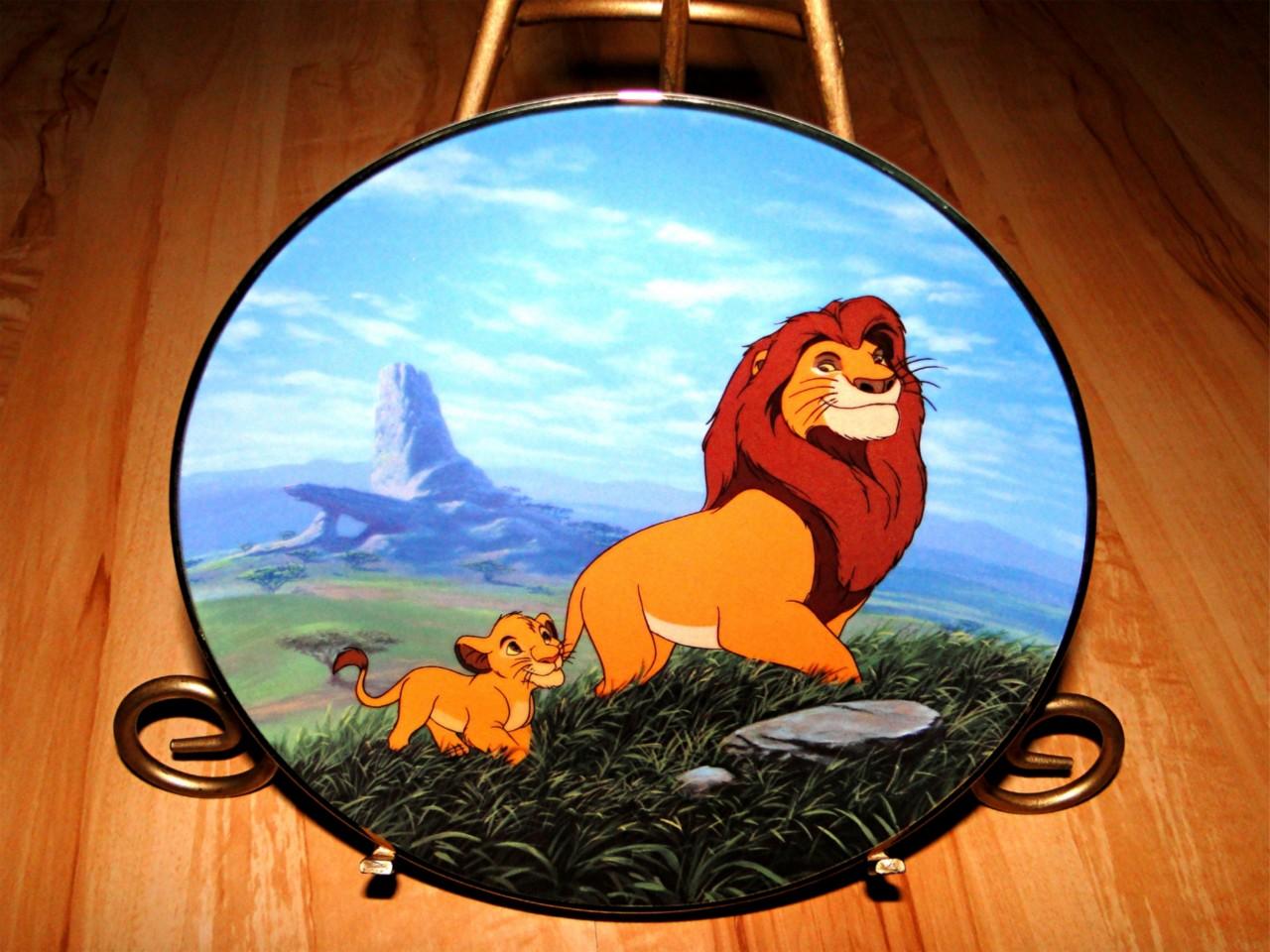 the lion king bradford exchange disney plate set lot ebay. Black Bedroom Furniture Sets. Home Design Ideas