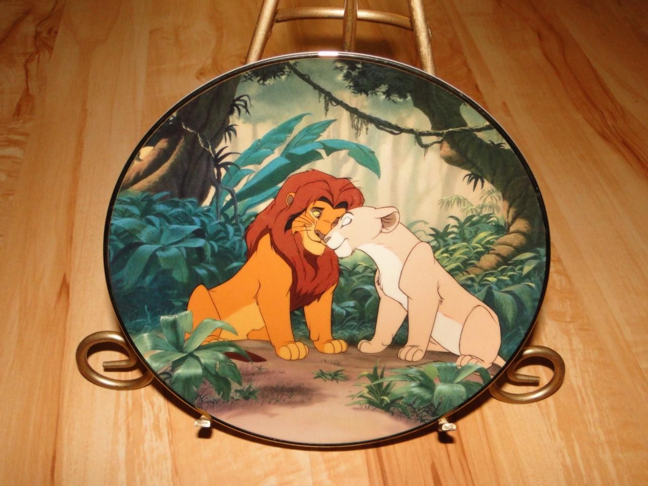 the lion king bradford exchange disney plate set lot. Black Bedroom Furniture Sets. Home Design Ideas