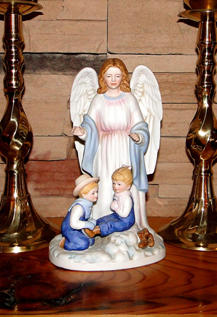 Denim Days Guardian Angel Home Interiors Homco Christmas