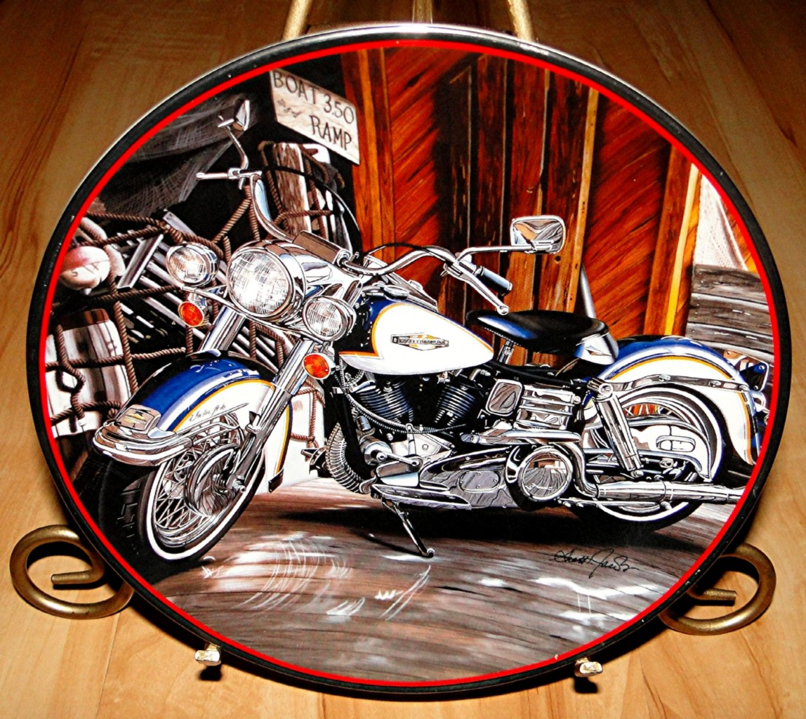 Harley Davidson 1968 Electra Glide Motorcycle Franklin Mint Collection Plate