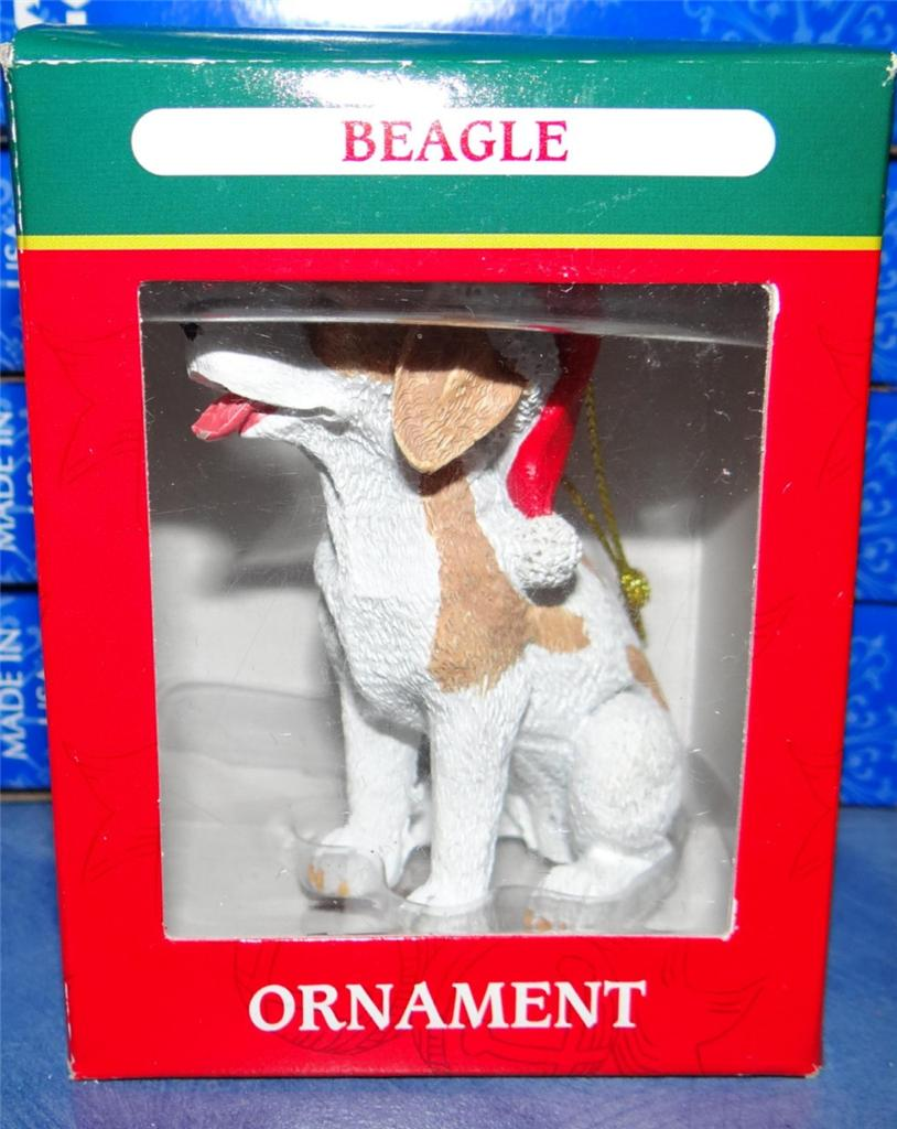 Beagle dog puppy collectible christmas picture figurine for A href decoration none