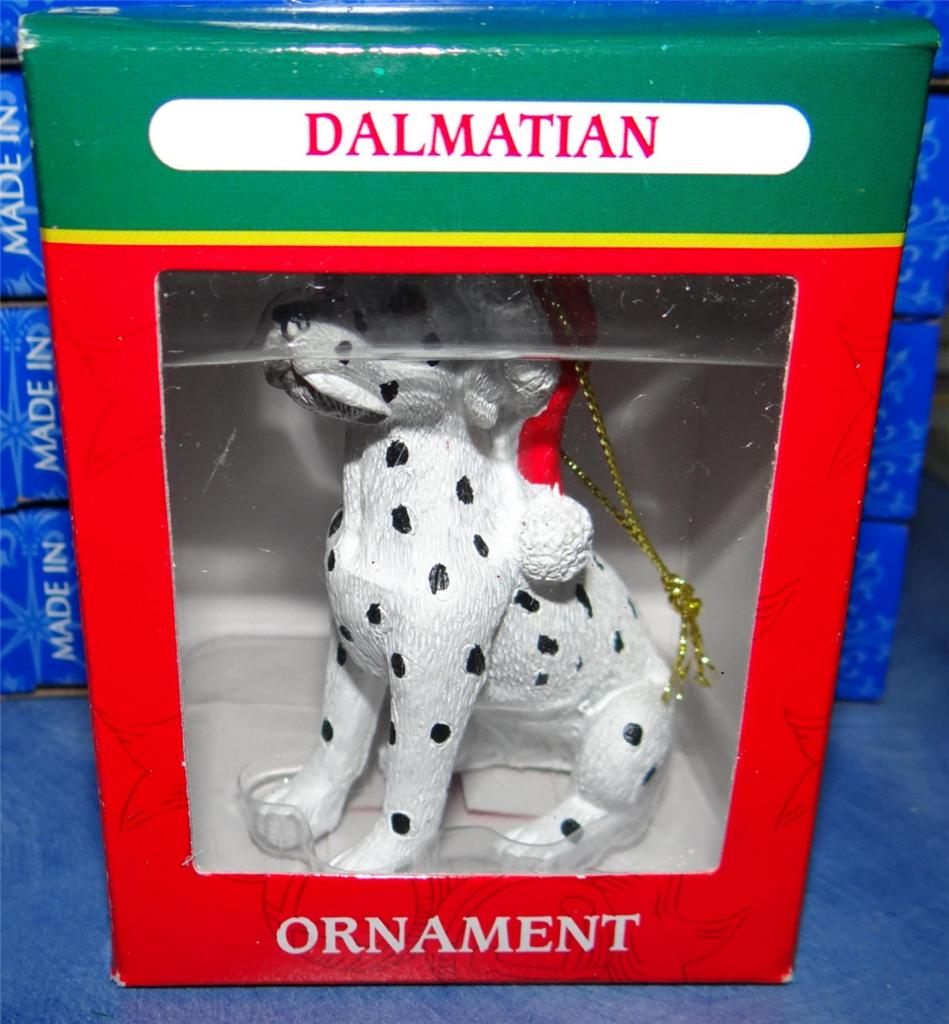 Dalmatian dog puppy collectible christmas picture figurine for A href decoration none