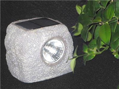 Solar Garden Rock Light Led Path Lighting Gift Nib Landscape Pond Decorative Ebay