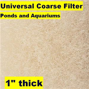 Universal 28 x10 39 coarse pond filter media 1 thick large for Pond filter media ideas