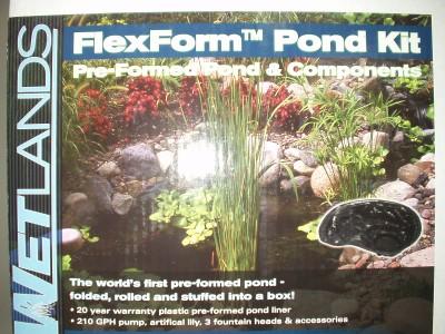 Flexform Kit Preformed Pond Components 31 Gallons Water Garden Liner Diy Ebay