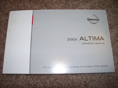 Contents contributed and discussions participated by wendy tisdell 2003 nissan altima owners manual fandeluxe Gallery