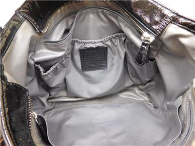 coach gray patent leather handbag iqiq  $398 COACH BLACK PATENT LEATHER SIGNATURE STITCHED DIAPER TOTE BAG 19911  Very good condition Black patent leather with polished nickel hardware