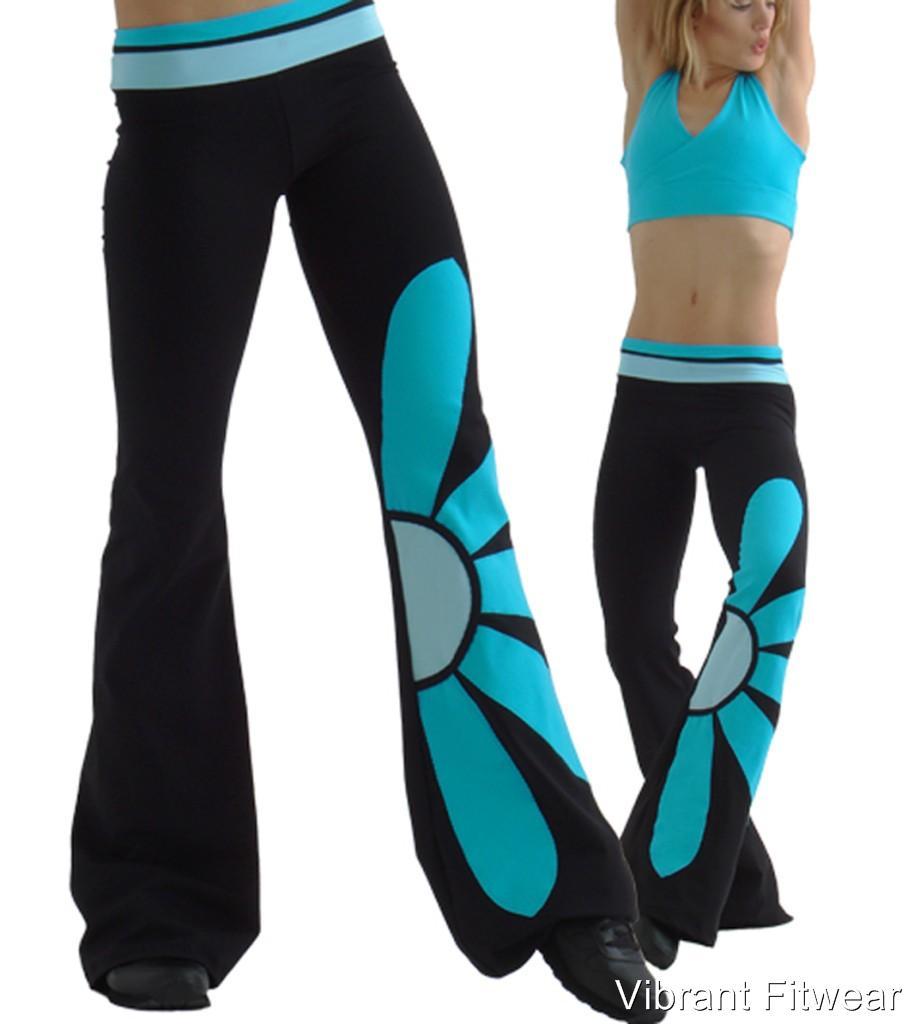 Margarita-Daisy-Pant-Activewear-NWT-Supplex-Yoga-Black-Turquoise-Blue ...