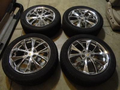 equinox torrent gm factory oem 18 chrome wheels tires new take off 2011 09 11 ebay. Black Bedroom Furniture Sets. Home Design Ideas