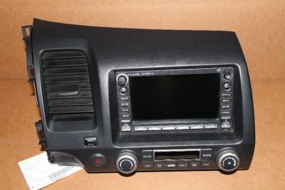 honda civic hybrid cd player xm radio gps navigation  bezel blk ad ebay