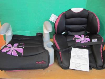 2 seats in 1 evenflo 31911432 big kid amp high back booster car safety seat ebay. Black Bedroom Furniture Sets. Home Design Ideas
