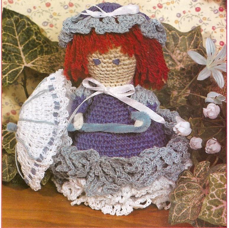 Free Crochet Angel Doll Pattern : April Showers Doll & Angel Purse Crochet Patterns eBay