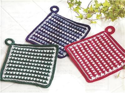 Mosaic Basketweave Placemat Crochet Pattern | Red Heart