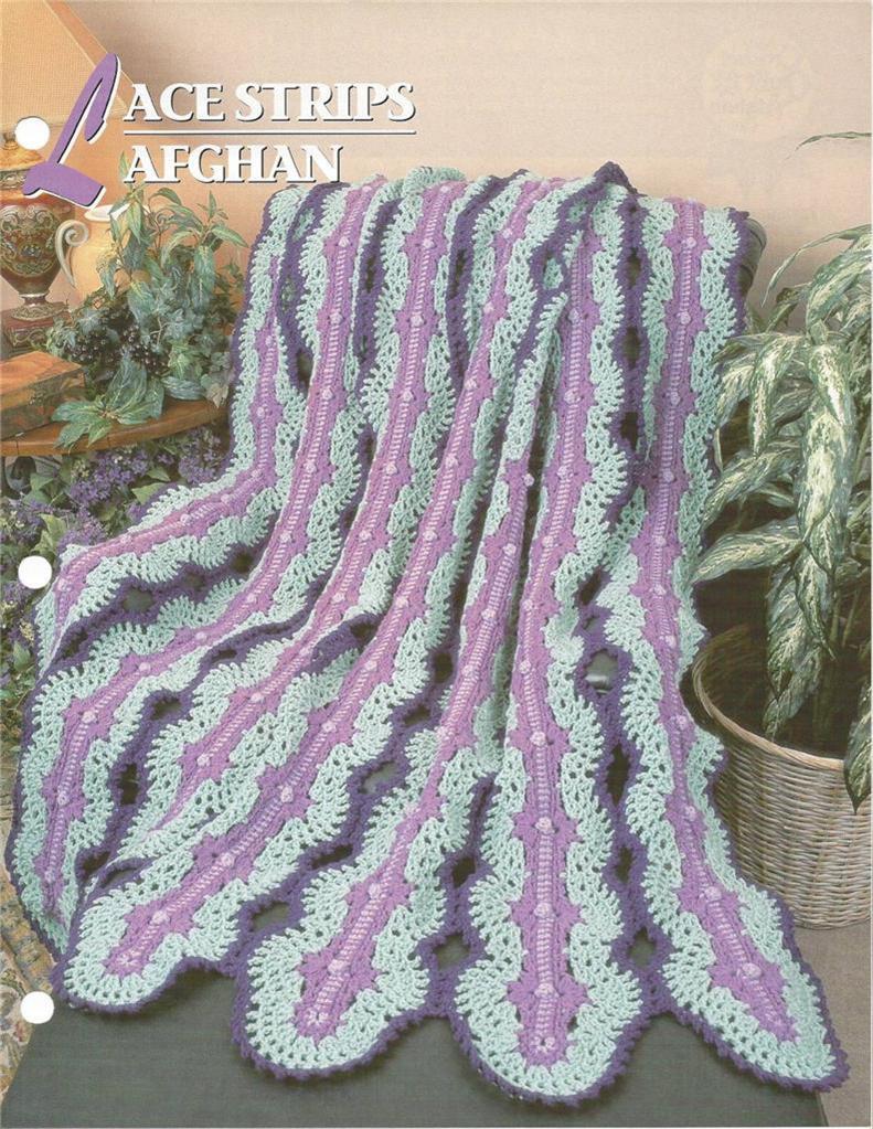 Annies Crochet : Lace Strips Afghan Annies Crochet Pattern eBay