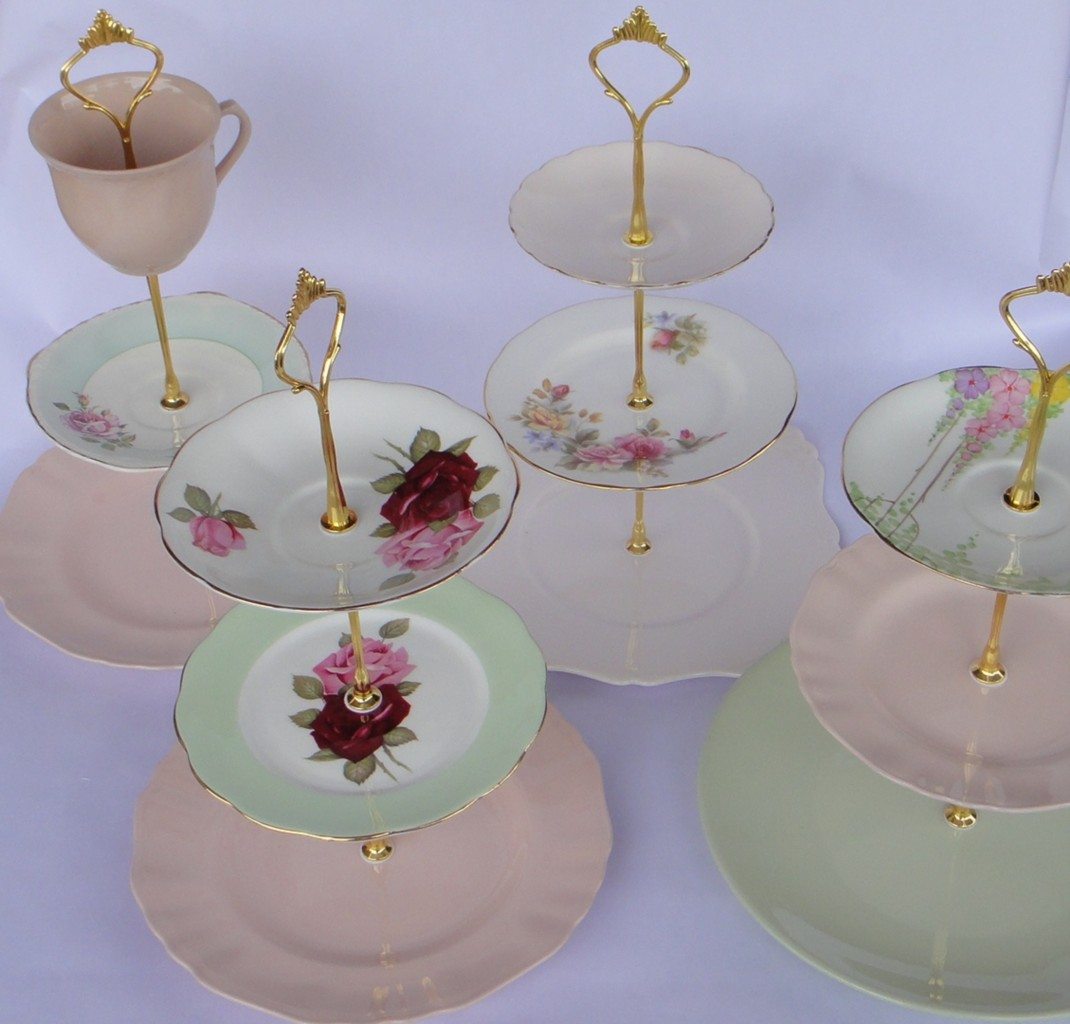 How-to-make-3-Tier-Vintage-Wedding-Cup-Cake-Stand-DIY-Fitting-Instructions
