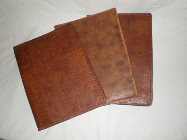 Handmade Leather Book Cover : Handmade goat leather a book cover document bca ebay