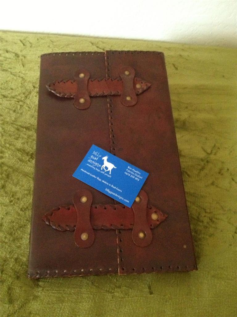 Handmade Leather Notebook Diary Journal Book Gift N2S Billy Goat Designs in Books, Magazines, Accessories, Gift Books, Diaries, Journals | eBay