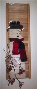 CHRISTMAS-HOLIDAY-WINTER-SNOWMAN-Wood-Shutter-Sign-NEW